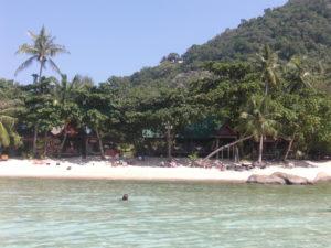 Bild på strand vid Koh Tao. Fotograf Leif Nilsson.